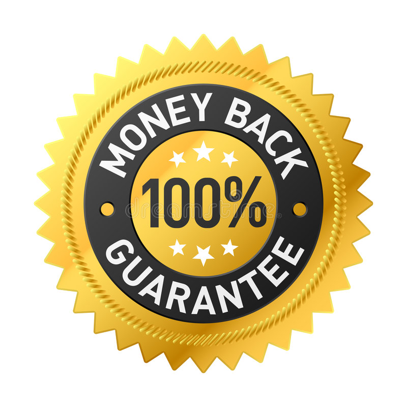 Money back label stock illustration