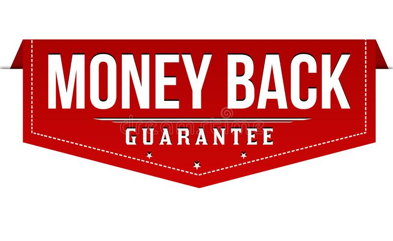 Money back label or sticker. On white background, vector illustration vector illustration