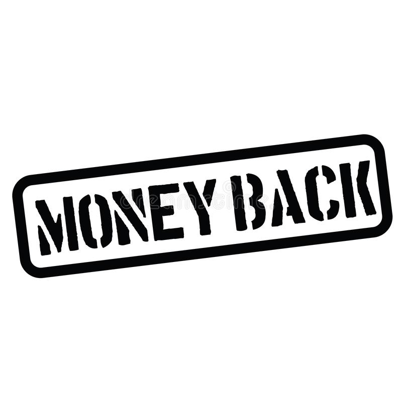 Money back rubber stamp. Black. Sign, label sticker royalty free illustration