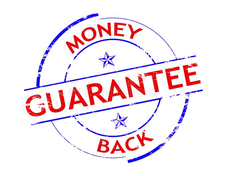 Money back. Rubber stamp with text money back inside, illustration stock illustration