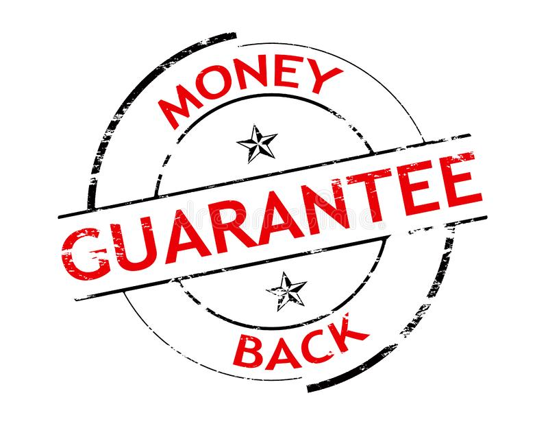 Money back. Rubber stamp with text money back inside, illustration vector illustration