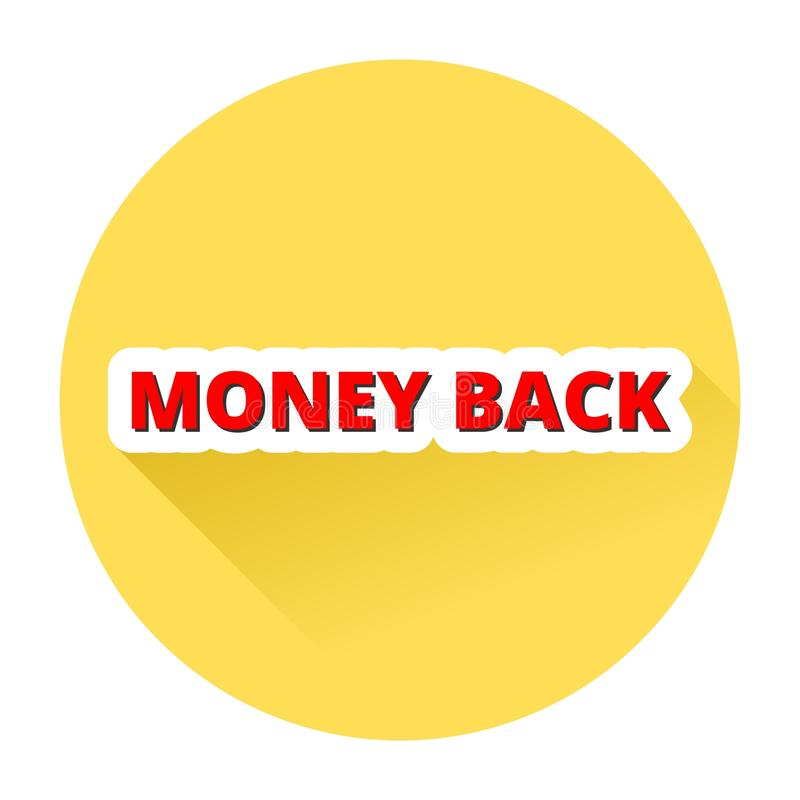 Money Back with shadow. Simple Money Back button with shadow vector illustration
