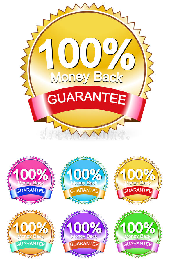 Money back sign royalty free illustration