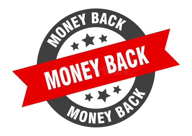 money back sign stock illustration