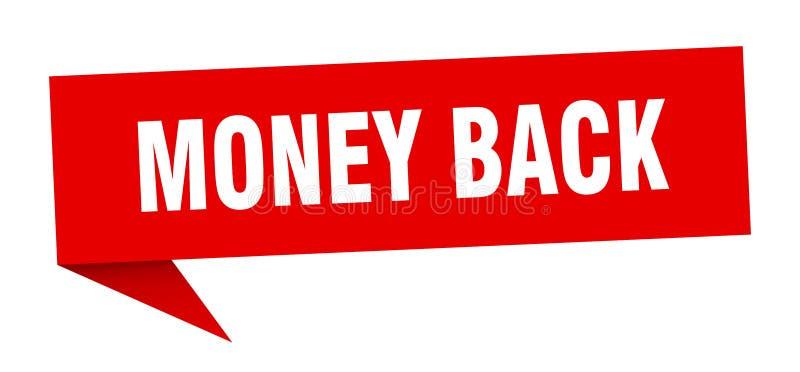 money back speech bubble. royalty free illustration