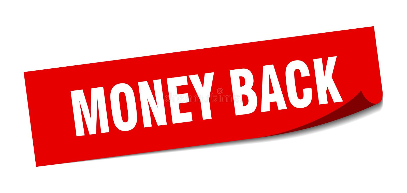 money back sticker. stock illustration