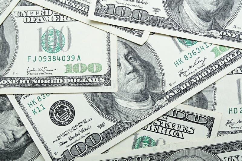 Money background. Background from one hundred dollars stock photo