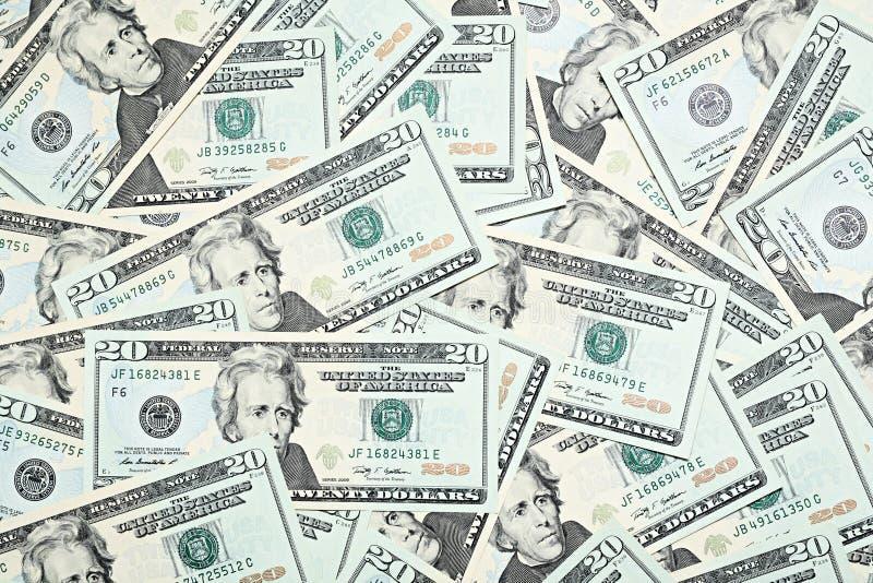 Money background. Background from twenty dollars of USA stock images