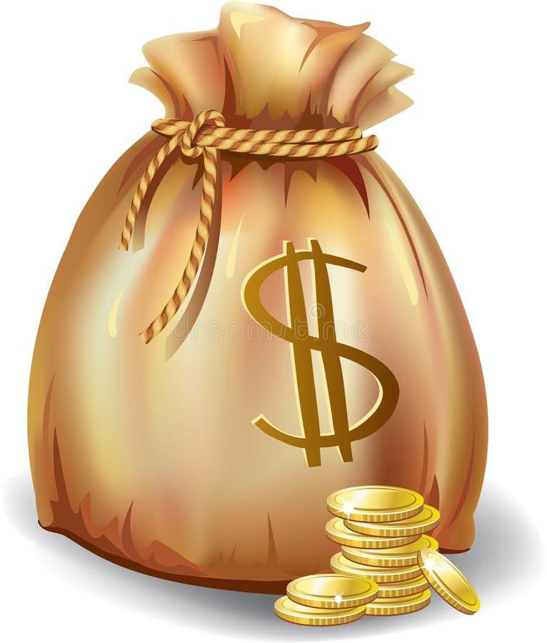 Download Money bag stock vector. Illustration of bank, coin, gold - 18571914