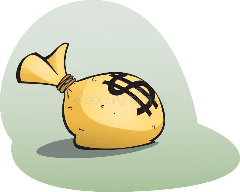 Download Money bag stock vector. Illustration of dollar, money - 19016194