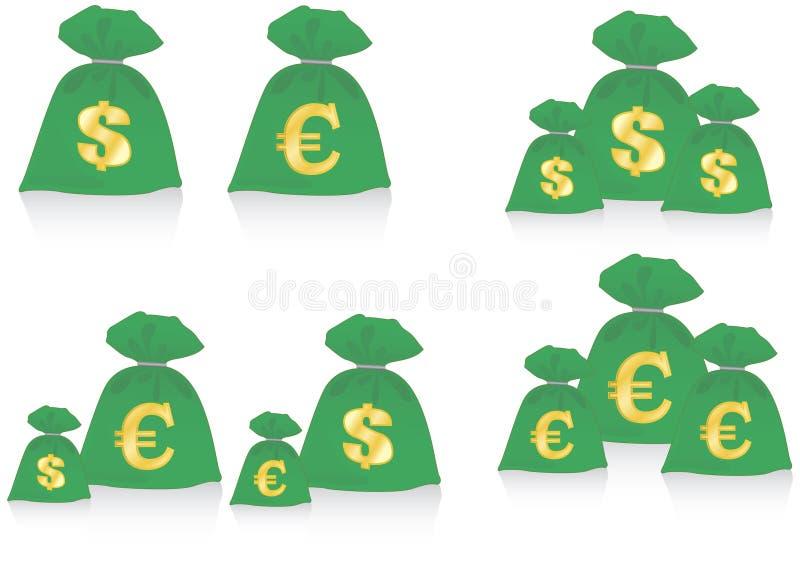 Download Money bag stock illustration. Illustration of coin, money - 19804847