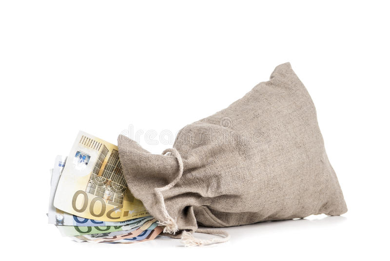 Download Money Bag stock image. Image of note, case, concept, brown - 24137103