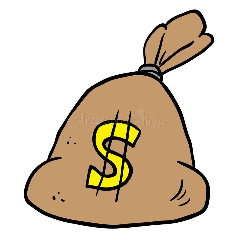 Money bag stock illustration