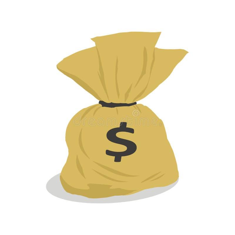 Money bag cartoon royalty free stock photography
