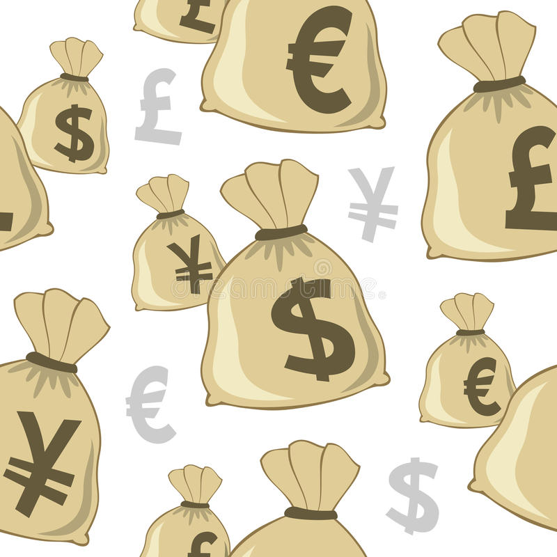 Free Money Bag Currencies Seamless Pattern Stock Image - 37505091