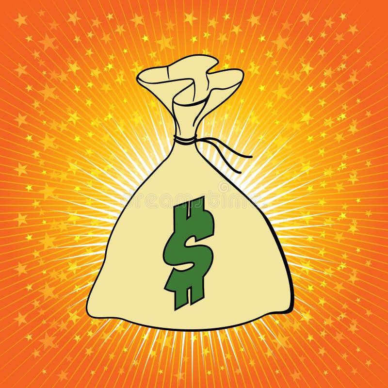 Download Money Bag With Dollar Sign Vector Illustration. Stock Vector - Illustration: 40466298