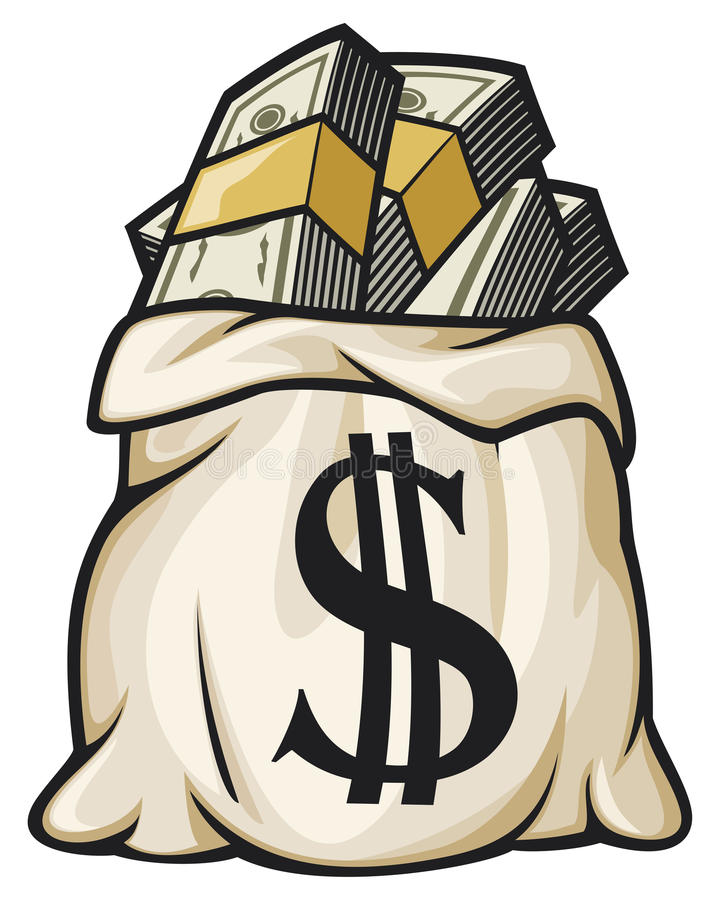 Download Money bag filled dollars stock image. Image of funds - 24929385