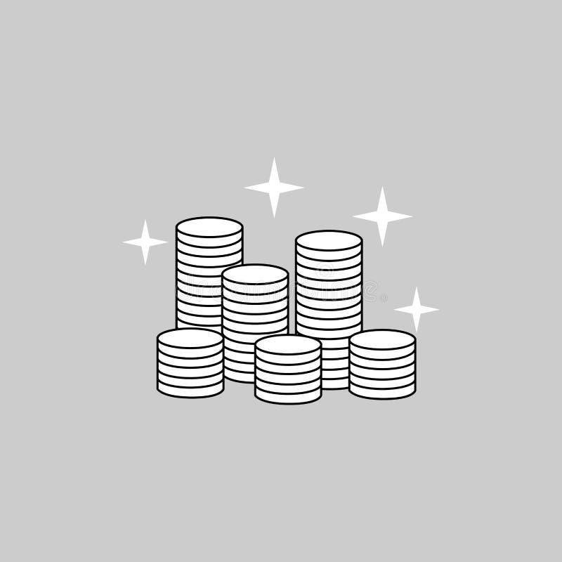 Money bag icon vector art royalty free stock photography