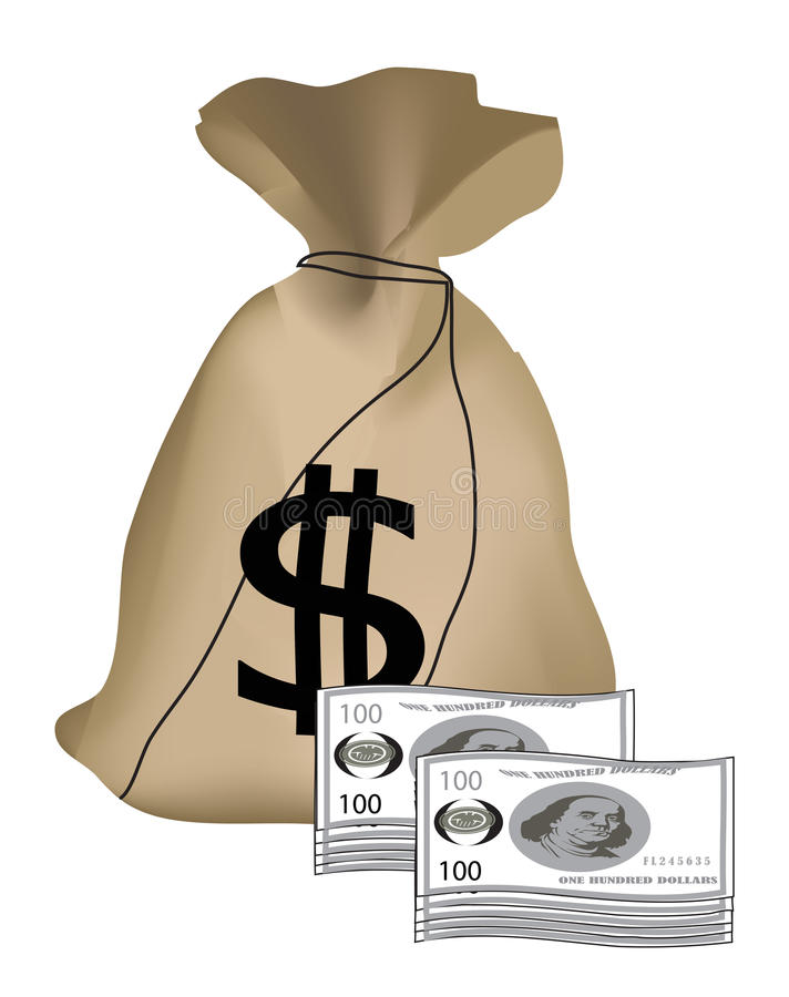 Download Money Bag stock vector. Image of banking, profit, payment - 42126298