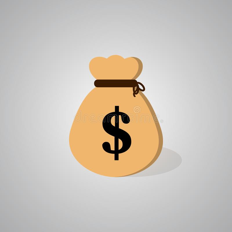 money bag icon. vector illustration
