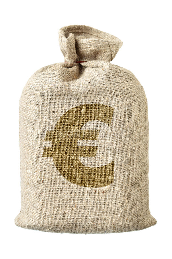 Free Money-bag With Euro Symbol Royalty Free Stock Photography - 16952697