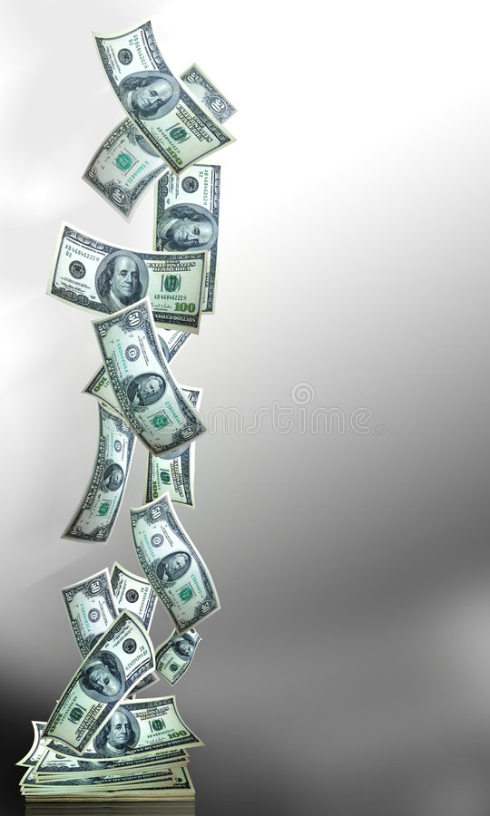 Money banner verticle royalty free stock photography