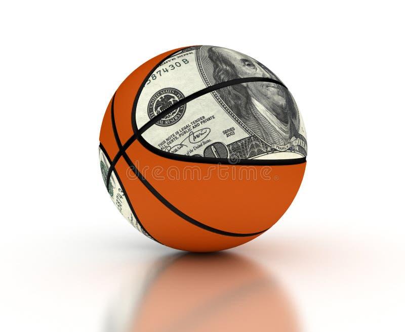 Money & Basketball royalty free stock photo
