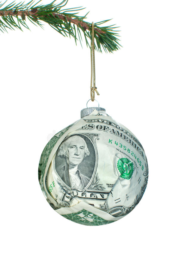 Money bauble royalty free stock images