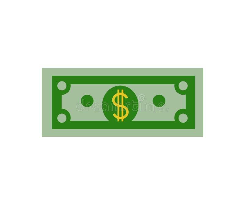Money bill cash icon on white background Flat design Vector royalty free illustration