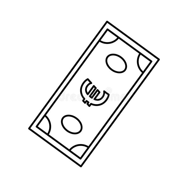 Money billet cash. Icon vector illustration graphic design royalty free illustration
