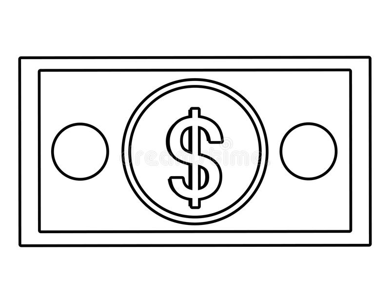 Money billet isolated flat design. vector illustration
