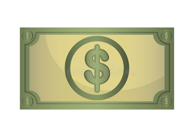 Money billet isolated flat design. Money billet isolated flat design, vector illustration concept vector illustration