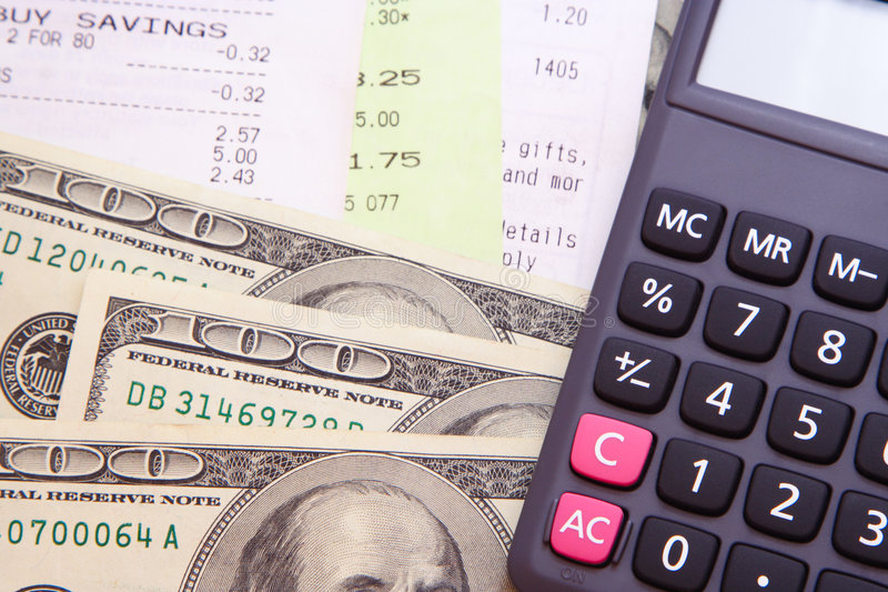 Download Money, Bills, & Calculator stock image. Image of account - 3252397