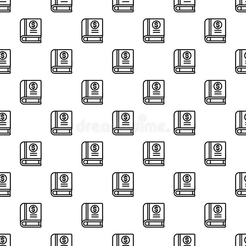Money book pattern seamless royalty free illustration