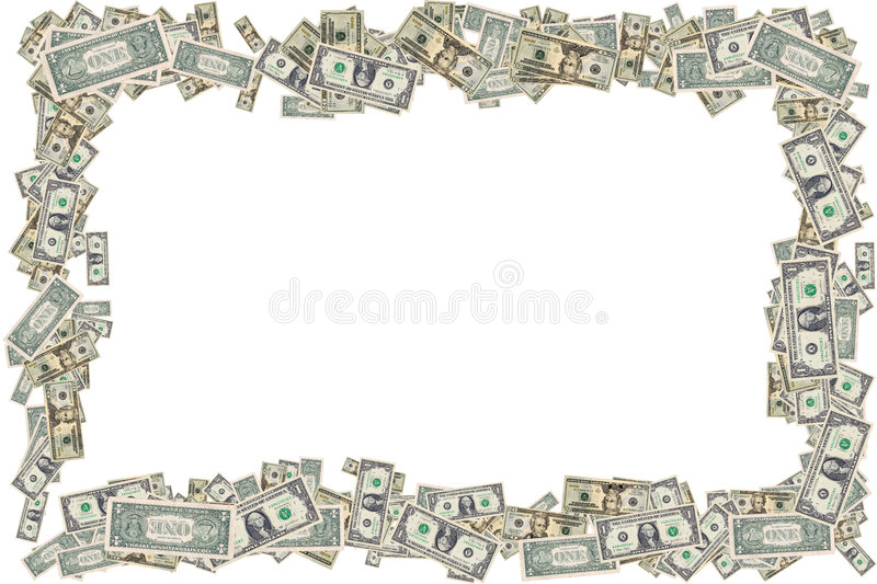 Money Border royalty free stock image