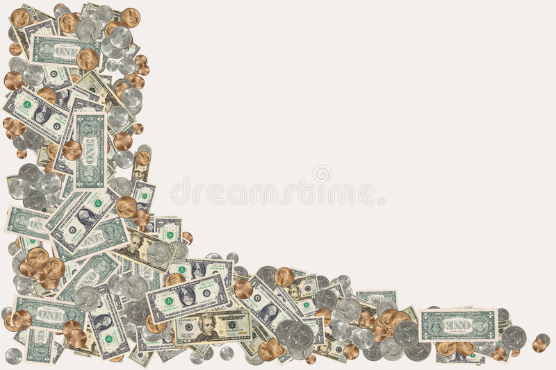 Money Border royalty free stock photography