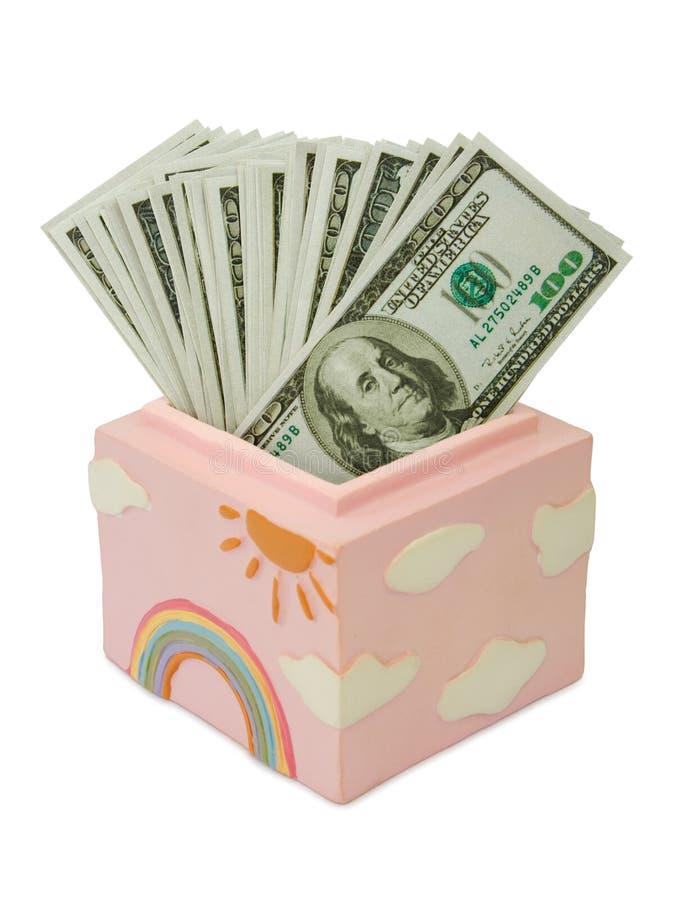Money in box stock image