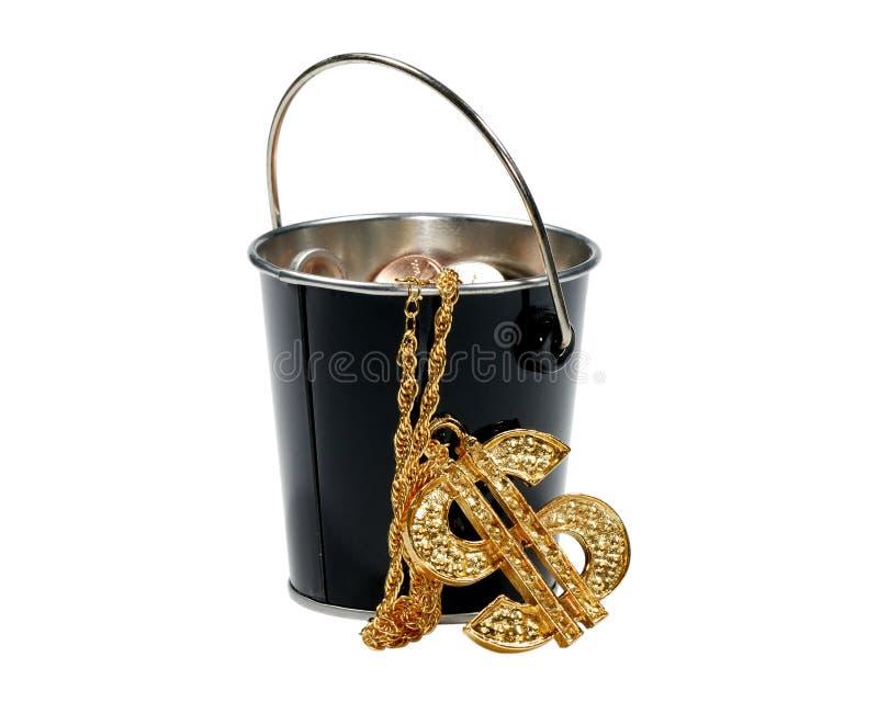 Money Bucket royalty free stock photography
