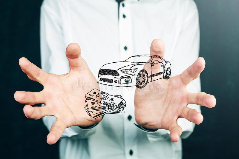 Money and business concept car.  royalty free stock photos