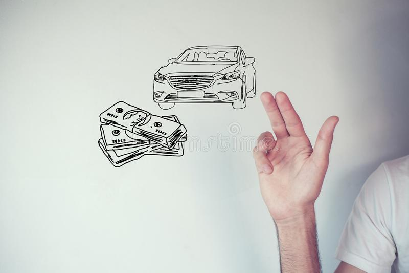 Money and business concept car.  stock photography