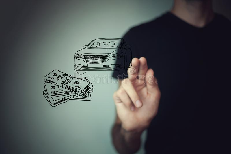 Money and business concept car.  stock photo