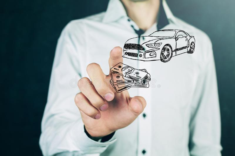 Money and business concept car.  royalty free stock image