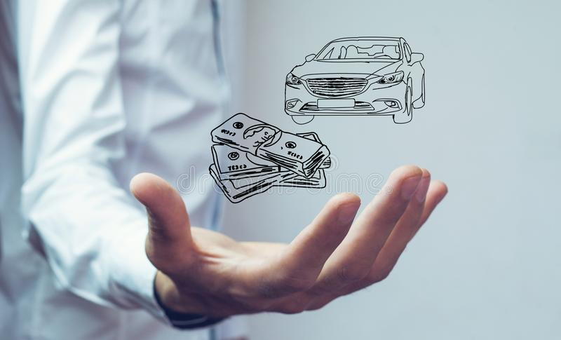 Money and business concept car.  royalty free stock photography