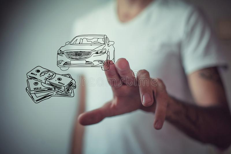 Money and business concept car.  stock image