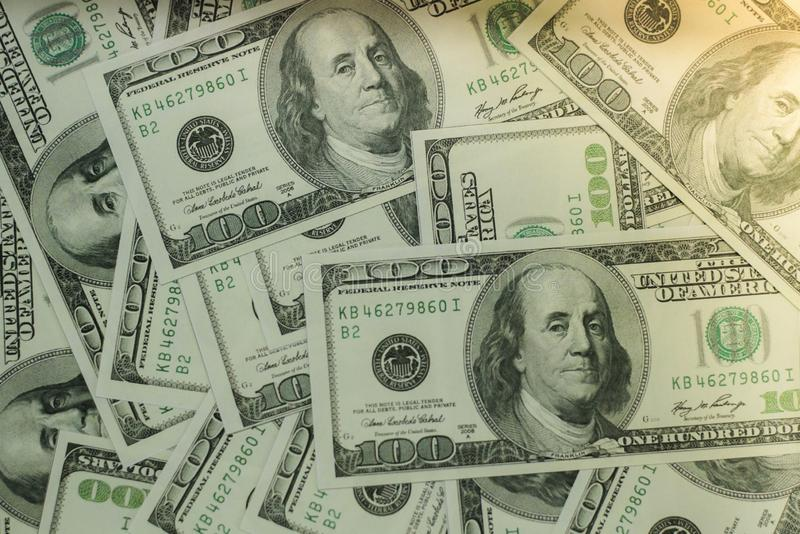 Money is a business investment and global stock market. stock image