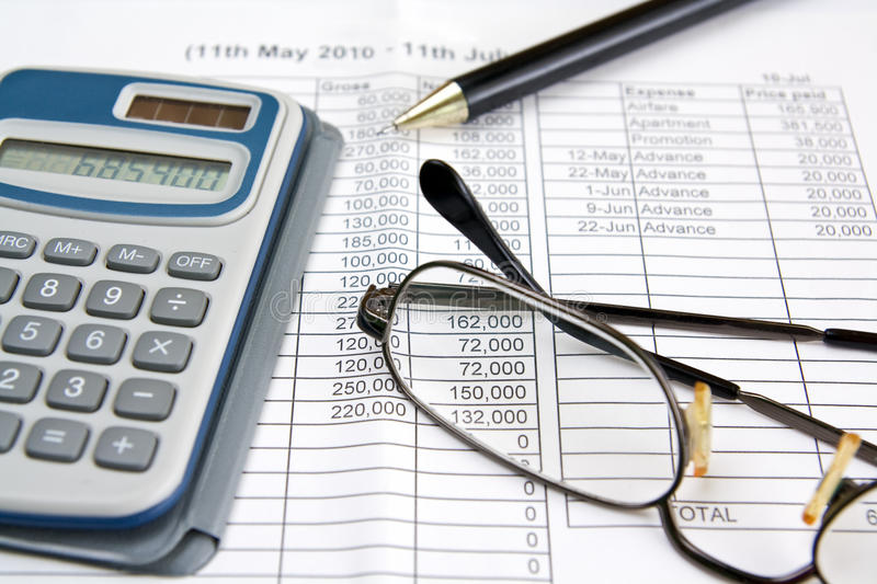Money calculation stock images