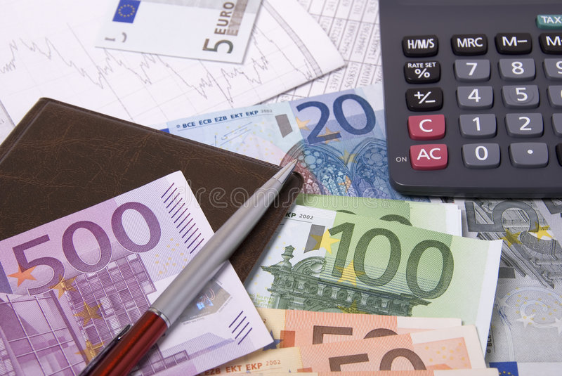 Download Money, Calculator And Pen Stock Photo - Image: 8753080