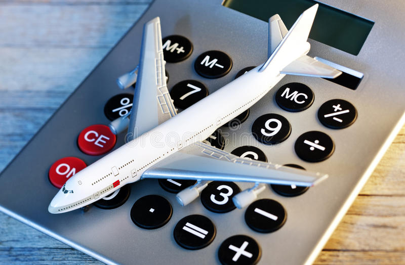 Money Calculator Travel Vacation royalty free stock images