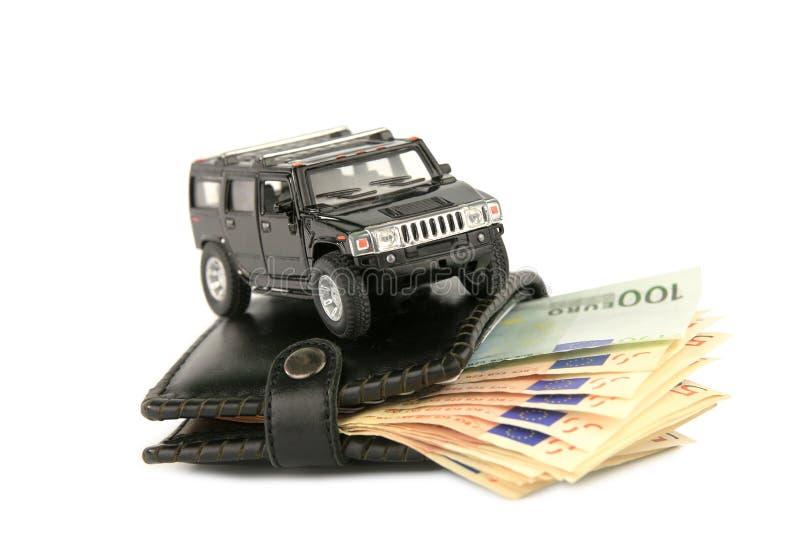 Money&cars images libres de droits