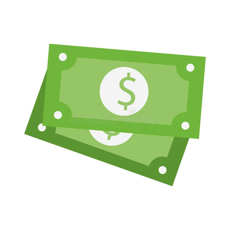 Money cash billets isolated stock illustration